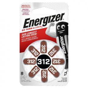 Батарея для слухового аппарата Energizer Zinc Air 312 DP-8