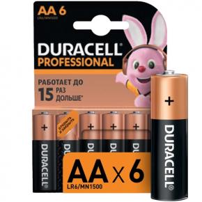 Батарея Duracell Professional AA LR6/MN1500 6 шт.