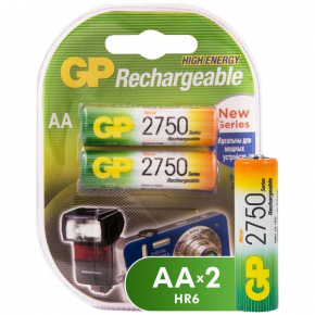 Аккумулятор GP АA (LR6) 2 шт. (275PROAAHC-2CR2)