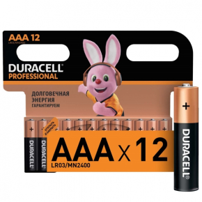 Батарея Duracell AAА LR03-12BL Professional 12шт.