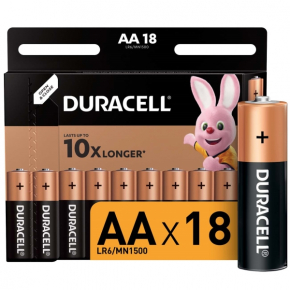 Батарея Duracell AА LR6-18BL Basic 18шт.