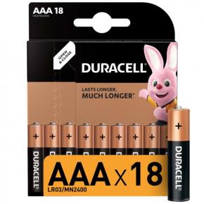 Батарея Duracell AAА LR03-18BL Basic 18шт.