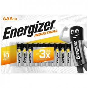 Батарея Energizer Industrial AAA-LR03 10шт.