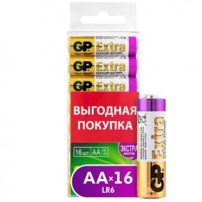 Батарея GP Extra Alkaline AA (LR6), 16 шт. (GP15AX-2CRB16)
