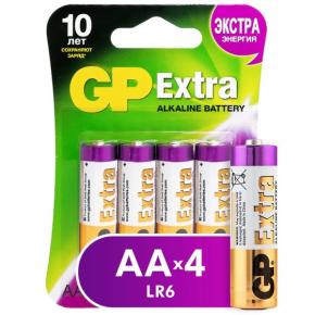 Батарея GP Extra Alkaline AA (LR6), 4 шт (15AXNEW-2CR4)