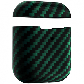 Аксессуар для AirPods LYAMBDA ANNET MANCINI Сarbon Series Green Matte