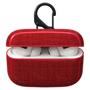 Аксессуар для AirPods Red Line чехол для кейса AirPods Pro, текстиль, красный