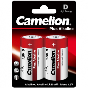 Батарея Camelion LR20 Plus Alkaline BL-2